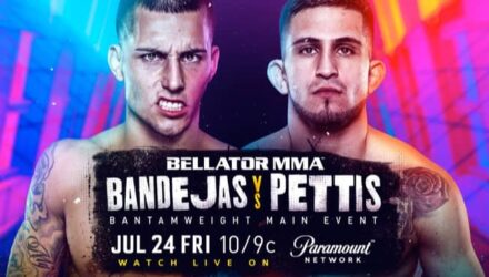 Bellator 242 Bandejas vs Pettis fight poster