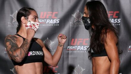 Invicta FC 40 weigh-in Emily Ducote vs Juliana Lima
