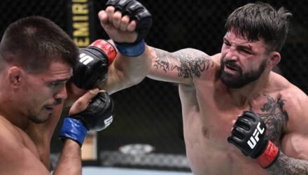 Mike Perry cracks Mickey Gall at UFC on ESPN 12