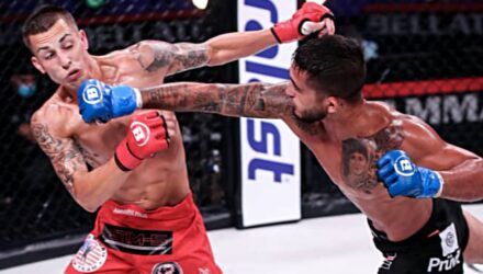 Sergio Pettis cracks Ricky Bendejas at Bellator 242