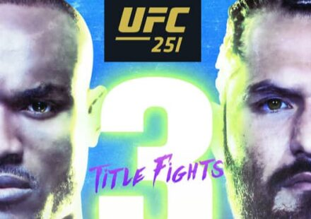 UFC 251 Usman vs Masvidal fight poster