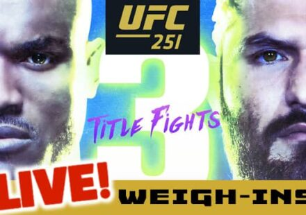 UFC 251 Usman vs Masvidal live weigh-ins