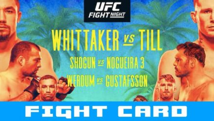 UFC Fight Island Whittaker vs Till fight card