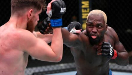 Derek Brunson cracks Edmen Shahbazyan at UFC Vegas 5