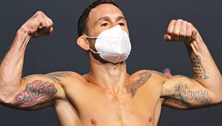 Frankie Edgar UFC on ESPN 15 bantamweight weigh-in