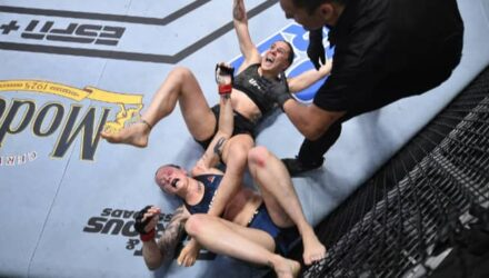 Jennifer Maia submits Joanne Calderwood at UFC Vegas 5