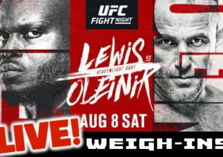 UFC Lewis vs Oleinik live weigh-ins