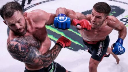 Vadim Nemkov punches Ryan Bader at Bellator 244