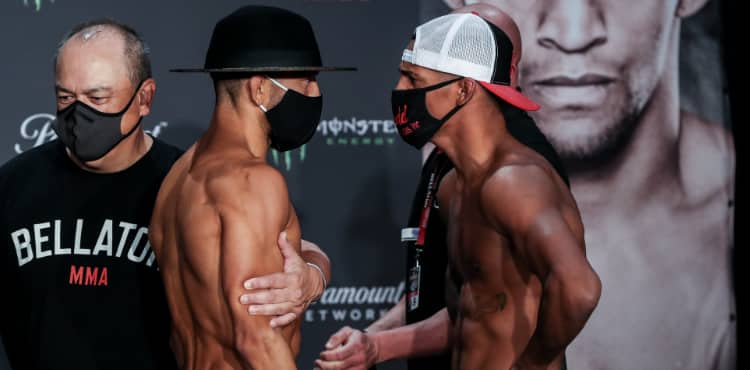 Bellator 246 weigh-in Juan Archuleta vs Patchy Mix
