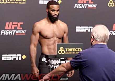 Tyron Woodley refuses to wear mask