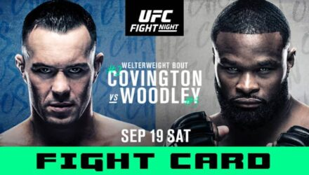 UFC Covington vs Woodley fight card