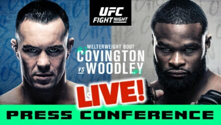 UFC Covington vs Woodley live press conference