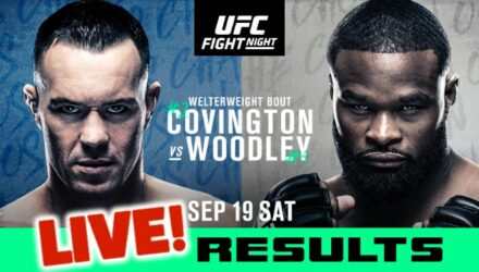 UFC Covington vs Woodley live results