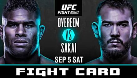 UFC Overeem vs Sakai fight card