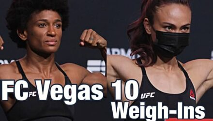 UFC Vegas 10 weigh-ins - Angela Hill and Michelle Waterson
