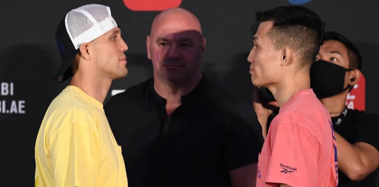 Brian Ortega vs Korean Zombie UFC Fight Island 6 faceoff