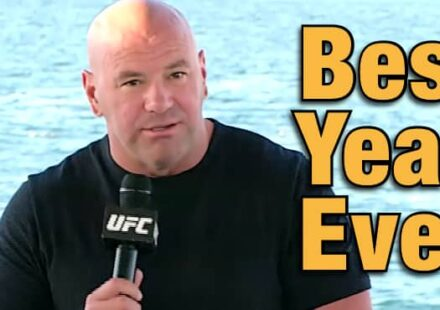 Dana White UFC 254 beach Best Year Ever