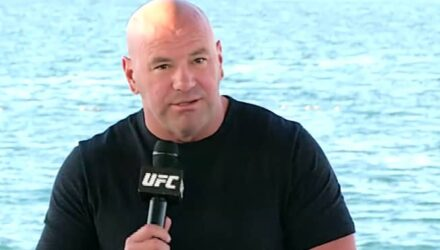 Dana White UFC 254 beach press conference