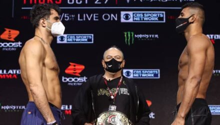 Gegard Mousasi vs Douglas Lima Bellator 250 weigh-in faceoff
