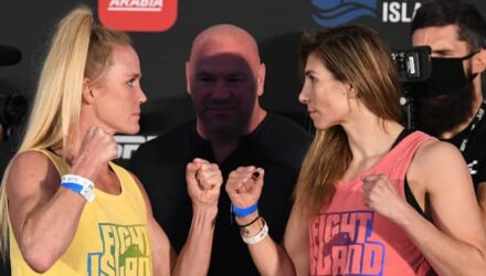 Holly Holm vs Irene Aldana - UFC Fight Island 4 face-off