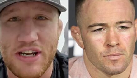 Justin Gaethje and Colby Covington