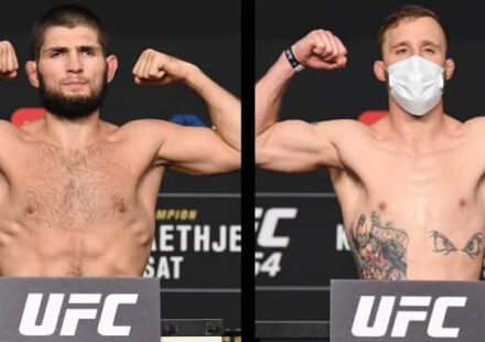 Khabib Nurmagomedov vs Justin Gaethje UFC 254 weigh-in