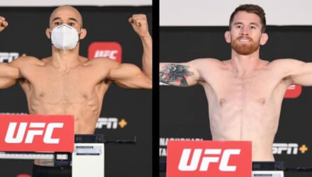 Marlon Moraes vs Cory Sandhagen UFC Fight Island 5 weigh-in