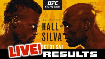 UFC Hall vs Silva live results