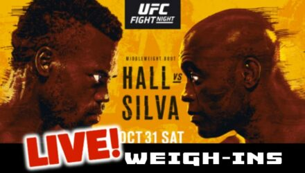 UFC Hall vs Silva live weigh-ins