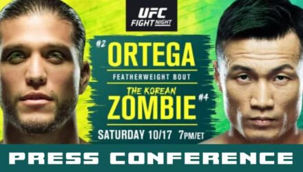UFC Ortega vs Korean Zombie press conference