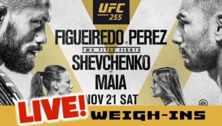 UFC 255 Figueiredo vs Perez live weigh-ins