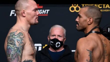 UFC Vegas 15 weigh-in Anthony Smith vs Devin Clark faceoff