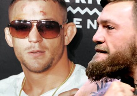 Dustin Poirier and Conor McGregor