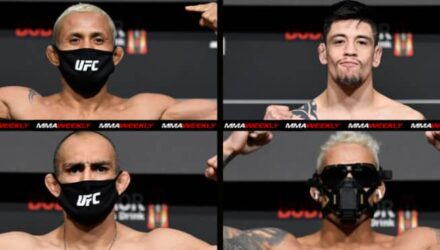 UFC 256 main and co-main weigh-in