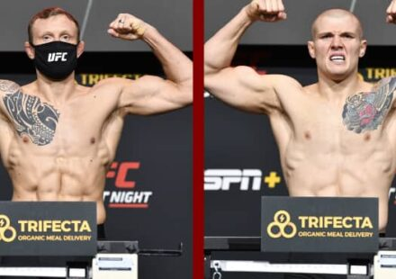 UFC Vegas 16 Jack Hermansson vs Marvin Vettori weigh-in
