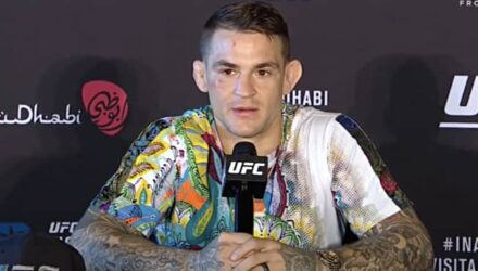 Dustin Poirier at UFC 257 press conference