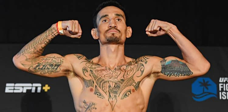 Max Holloway UFC Fight Island 7 weigh-in