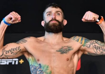 Michael Chiesa UFC Fight Island 8 weigh-in