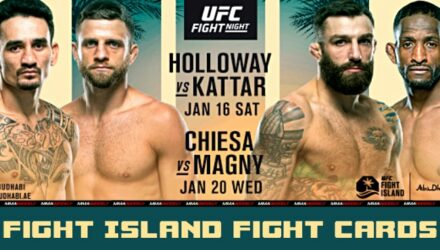 UFC Fight Island 7 and 8 fight cards
