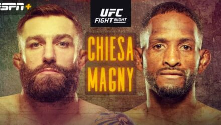 UFC Fight Island 8 Chiesa vs Magny poster