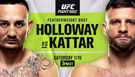UFC Fight Night Holloway vs Kattar poster