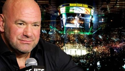 Dana White over UFC 205 Madison Square Garden arena