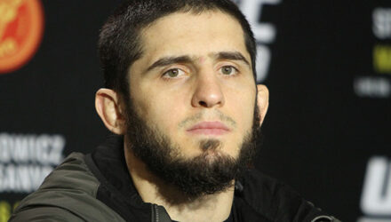 Islam Makhachev at UFC 259 Media Day