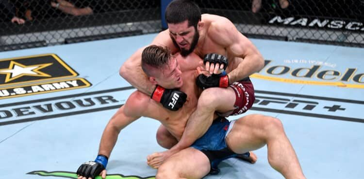 Islam Makhachev smothers Drew Dober at UFC 259