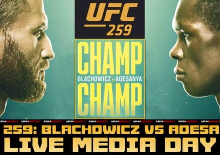 UFC 259 Blachowicz vs Adesanya live media day