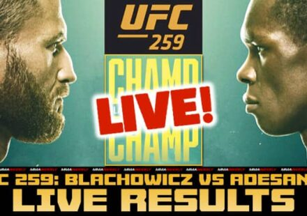 UFC 259 live results: Blachowicz vs Adesanya