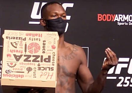 UFC 259 weigh-in results Israel Adesanya