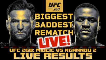 UFC 260 Miocic vs Ngannou 2 live results