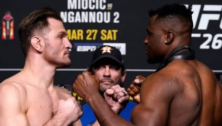UFC 260 weigh-in face-off Stipe Miocic vs Francis Ngannou