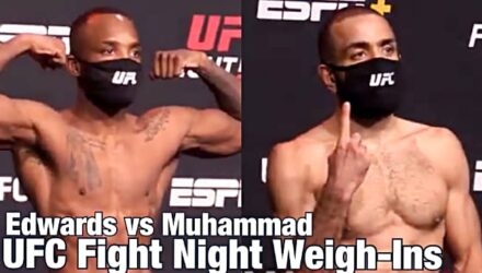 UFC Vegas 21 weigh-in Leon Edwards vs Belal Muhammad